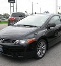 honda civic 2008 black coupe si gasoline 4 cylinders front wheel drive 6 speed manual 45840