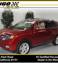 lexus rx 450h 2010 matador red suv hybrid 6 cylinders all whee drive automatic 91731
