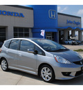 honda fit 2009 silver hatchback sport w navi gasoline 4 cylinders front wheel drive automatic 77065