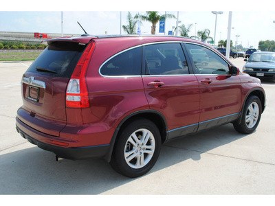 honda cr v 2010 red suv ex l gasoline 4 cylinders front wheel drive 5 speed automatic 77065