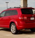 dodge journey 2009 dk  red suv sxt gasoline 6 cylinders front wheel drive automatic 62034