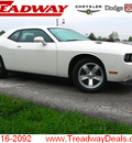 dodge challenger 2009 white coupe se gasoline 6 cylinders rear wheel drive automatic 45840