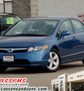 honda civic 2008 blue sedan ex gasoline 4 cylinders front wheel drive automatic 62034