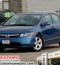honda civic 2008 blue sedan ex gasoline 4 cylinders front wheel drive automatic 62034