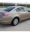 honda accord 2010 beige sedan lx gasoline 4 cylinders front wheel drive automatic 77065