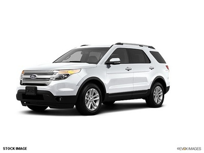 ford explorer 2012 white suv xlt gasoline 6 cylinders 2 wheel drive shiftable automatic 77388