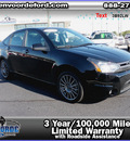 ford focus 2010 black sedan ses 4dr gasoline 4 cylinders front wheel drive automatic 56301