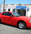 ford mustang 2001 red coupe gasoline 6 cylinders rear wheel drive automatic 92882