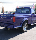 ford f 150 1995 purple pickup truck xl gasoline 6 cylinders rear wheel drive 4 speed with overdrive 80229
