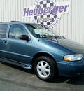 nissan quest 2001 bermuda blue van se gasoline 6 cylinders front wheel drive automatic 80905