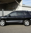 hyundai santa fe 2003 black suv gasoline 4 cylinders front wheel drive automatic 98371