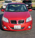 pontiac g3 2009 red hatchback 4 cylinders front wheel drive 5 speed manual 55124