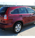honda cr v 2010 red suv lx gasoline 4 cylinders front wheel drive automatic with overdrive 77065
