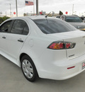 mitsubishi lancer 2010 white sedan de gasoline 4 cylinders front wheel drive automatic 78238