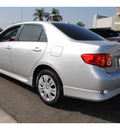 toyota corolla 2009 silver sedan s gasoline 4 cylinders front wheel drive 5 speed manual 91761