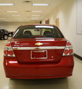 chevrolet aveo 2007 red sedan lt gasoline 4 cylinders front wheel drive automatic 27707
