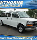 chevrolet express 2011 white van lt 3500 flex fuel 8 cylinders rear wheel drive automatic 07507