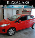 ford fiesta 2012 red hatchback se gasoline 4 cylinders front wheel drive automatic with overdrive 60546