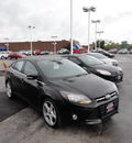 ford focus 2012 black sedan titanium gasoline 4 cylinders front wheel drive automatic with overdrive 60546