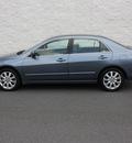 honda accord 2007 lt  blue sedan ex l v 6 gasoline 6 cylinders front wheel drive automatic 27616
