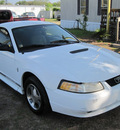 ford mustang 2000 white coupe gasoline v6 rear wheel drive automatic 77379