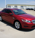 ford taurus 2011 red sedan sel gasoline 6 cylinders front wheel drive automatic 76108