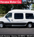 ford econoline e150 2002 white van conversion van 8 cylinders automatic with overdrive 80012