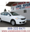 nissan versa 2010 white hatchback 1 8 s gasoline 4 cylinders front wheel drive automatic 98674
