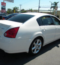 nissan maxima 2006 white sedan 3 5 se gasoline 6 cylinders front wheel drive automatic 92882