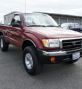 toyota tacoma 1999 red pickup truck 4x4 gasoline 4 cylinders 4 wheel drive automatic with overdrive 98371
