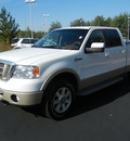 ford f 150 2008 white pickup truck king ranch 4x4 crew cab navi flex fuel 8 cylinders 4 wheel drive automatic with overdrive 55448