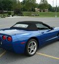 chevrolet corvette 2003 blue convertable gasoline v8 rear wheel drive automatic 17972
