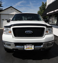 ford f 150 2005 white xlt 4x4 gasoline 8 cylinders 4 wheel drive automatic 45005