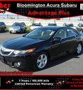 acura tsx 2009 black sedan base gasoline 4 cylinders front wheel drive 6 speed manual 55420