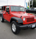 jeep wrangler unlimited 2008 red suv rubicon gasoline 6 cylinders 4 wheel drive 6 speed manual 98371