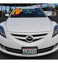mazda mazda6 2010 white sedan s grand touring gasoline 6 cylinders front wheel drive automatic 92653