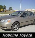 toyota corolla 2008 tan sedan le gasoline 4 cylinders front wheel drive automatic 75503