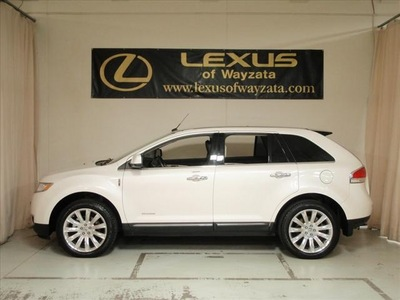 lincoln mkx 2011 white suv ltd awd navi gasoline 6 cylinders all whee drive shiftable automatic 55391