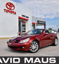mercedes benz slk350 2005 red gasoline 6 cylinders rear wheel drive automatic 32771