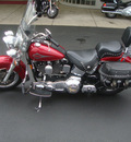 harley davidson flstc 1999 red heritage soft tail 2 cylinders 5 speed 45342