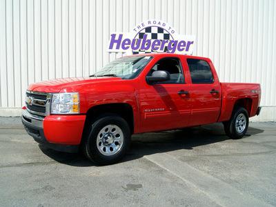 chevrolet silverado 1500 2010 red lt flex fuel 8 cylinders 4 wheel drive automatic 80905