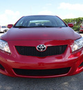 toyota corolla 2010 red sedan le gasoline 4 cylinders front wheel drive automatic 33177