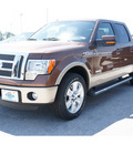 ford f 150 2011 brown lariat gasoline 6 cylinders 2 wheel drive automatic 77388