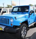 jeep wrangler 2012 blue suv sahara gasoline 6 cylinders 4 wheel drive 6 speed manual 07730