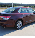 honda accord 2011 dk  red sedan ex l gasoline 4 cylinders front wheel drive automatic 77065