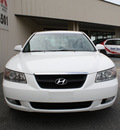 hyundai sonata 2007 white sedan se gasoline 6 cylinders front wheel drive automatic 27215