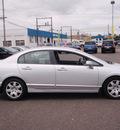 honda civic 2007 silver sedan lx gasoline 4 cylinders front wheel drive automatic 98632