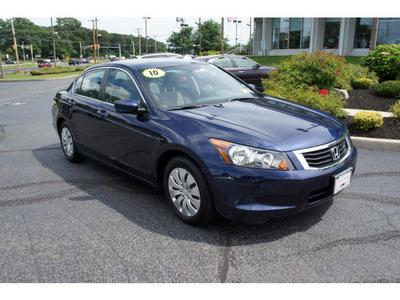 honda accord 2010 royal blue sedan lx gasoline 4 cylinders front wheel drive 5 speed automatic 07724