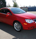 volkswagen eos 2007 red 3 2l gasoline 6 cylinders front wheel drive automatic 98226