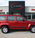 jeep liberty 2010 red suv sport gasoline 6 cylinders 2 wheel drive automatic 76210